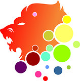 logo lion bubble