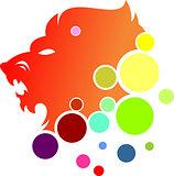 logo lion bubble