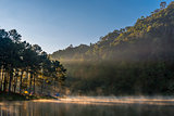 Morning light at Pang Ung lake