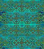 Ethnic seamless pattern. Boho green ornament. Repeating background.