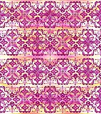 Ethnic seamless pattern. Boho pink ornament. Repeating background.
