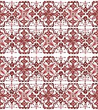Ethnic seamless pattern. Boho sanguine ornament. Repeating background.