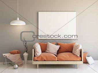 Interior mockup 3d