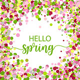Hello Spring lettering design. Vector illustration EPS10