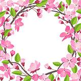 Pretty, beautiful Shabby Chick Cherry blossom background.