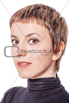 Beautiful woman head