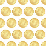 seamless of gold coins