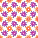 orange and violet flowers seamless