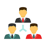 People network flat icon