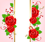 Decorative vertical banner for Valentine's day