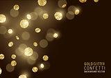 Large Gold glitter Confetti