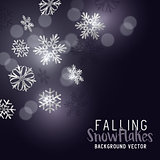 Falling Winter Snowflakes