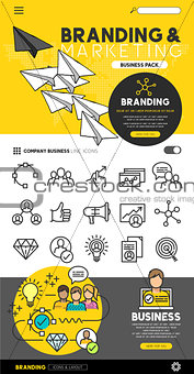 Branding and marketing Set