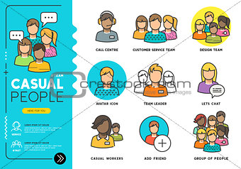 Casual People Vector Icons