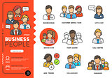 Business people Vector Icons