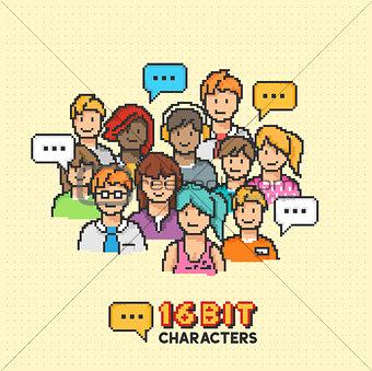 Retro 16-bit People Characters