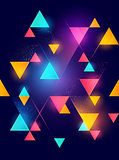 Glowing neon geometric pattern background