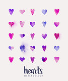 watercolour Heart Collection