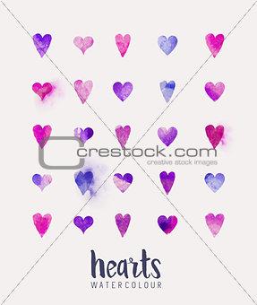 watercolour Heart Collection