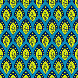 Abstract fish scale blue pattern in oriental style.