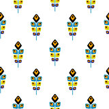 Peacock bright abstract feather seamless vector pattern.