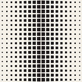 Stylish Minimalistic Halftone Grid. . Vector Seamless Black and White Pattern