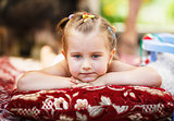 Pensive child outdoor