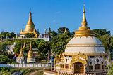 Sagaing hills skyline  Myanmar