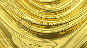 3D Illustration Abstract Gold Background Cloth