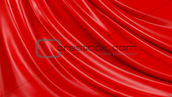 3D Illustration Abstract Red Background Cloth