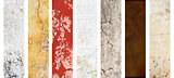 Set of banners with textures of stucco