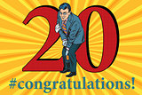 Congratulations 20 anniversary event celebration