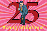 Congratulations 25 anniversary event celebration