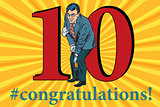 Congratulations 10 anniversary event celebration