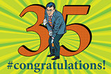 Congratulations 35 anniversary event celebration