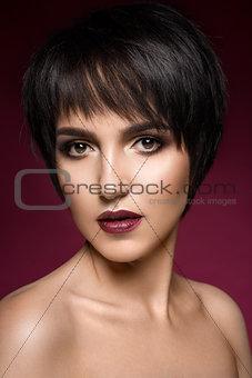 Beautiful caucasian woman.