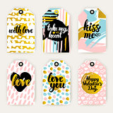 Trendy Valentines Day Gift Labels