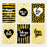 Valentine Day Gold Trendy Brochures