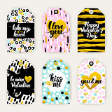 Valentine Day Trendy Gift Labels