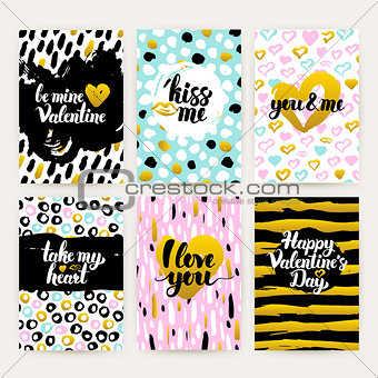 Valentine Day Trendy Hipster Posters