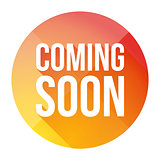 Coming Soon colorful button