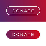 Modern Donate button flat
