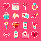 Valentines Day Love Stickers