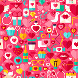 Valentines Day Pink Seamless Pattern