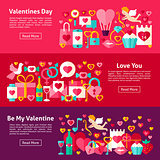 Valentines Day Web Horizontal Banners