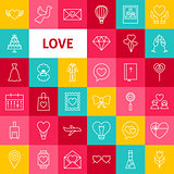 Vector Line Love Icons