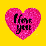 Yellow Pink I Love You
