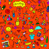 Bowling, seamless pattern for your design