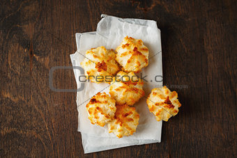 Fresh baked little coconut cookies