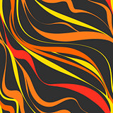 Seamless abstract background. Black and orange wave